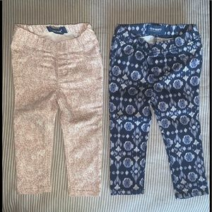 2 pairs of Old Navy jeggings size 18-24M